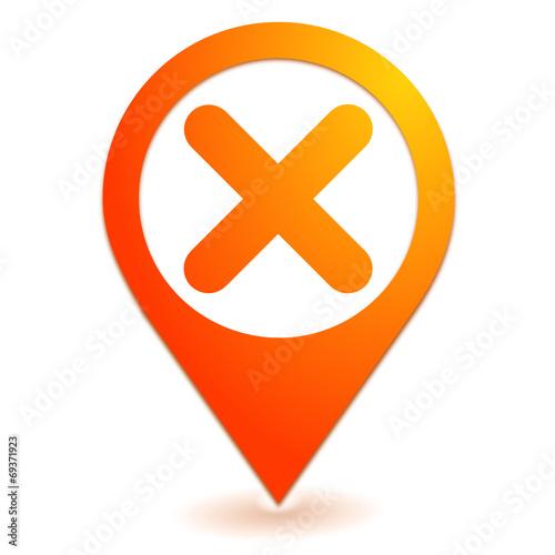 Fotografía  annuler sur symbole localisation orange