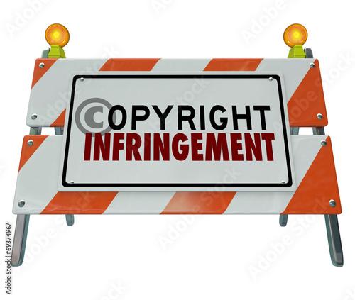 Fotografía Copyright Infringement Violation Barrier Barricade Construction