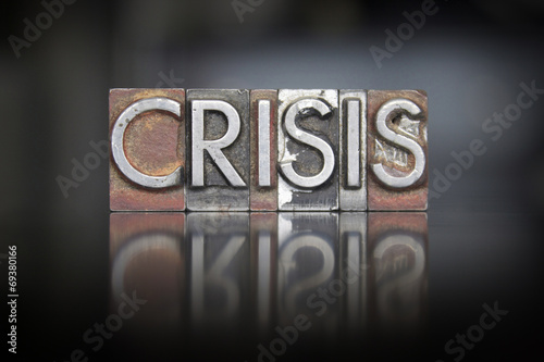 Fotomural  Crisis Letterpress