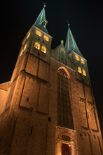 Deventer Bergkerk Bij Nacht