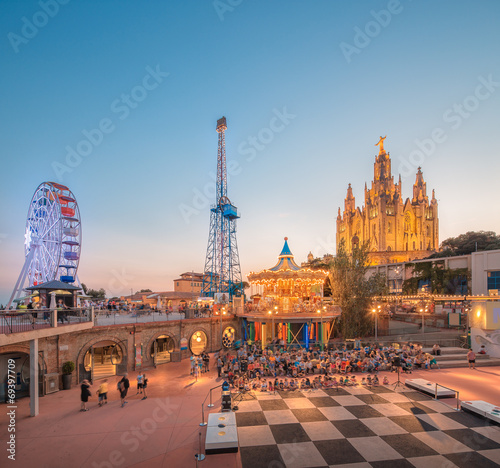 Photo  BARCELONA, SPAIN, Temple at Tibidabo