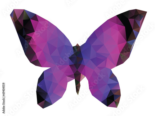 Fotografie, Obraz  Polygonal Butterfly