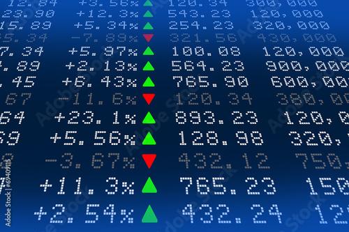 Fototapeta Digital Stock exchange panel obraz