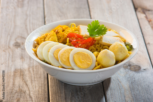 Hot and spicy Singapore Curry Noodle Poster