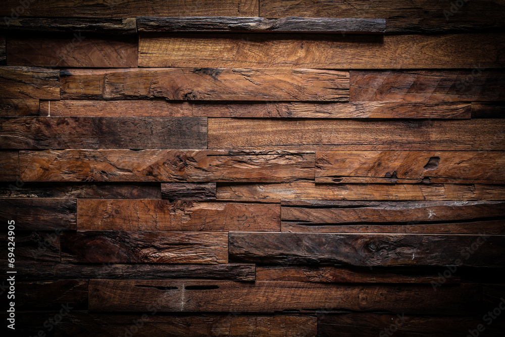 Fototapeta design of dark wood background