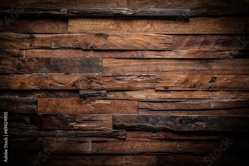 Deurstickers Hout design of dark wood background