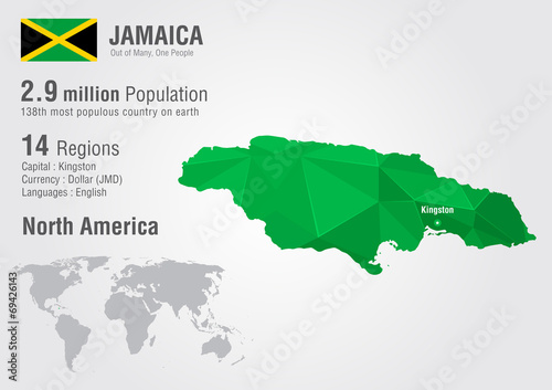 Jamaica world map with a pixel diamond texture buy this stock jamaica world map with a pixel diamond texture gumiabroncs Image collections