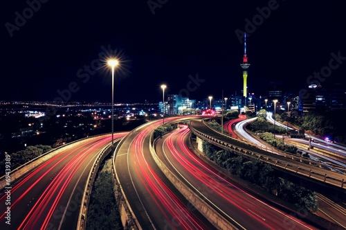 Auckland & Trail Lights Canvas Print