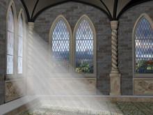 God Rays Through An Arched Window