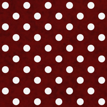 Red And White Large Polka Dots Pattern Repeat Background