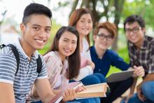 Smiling Vietnamese Student