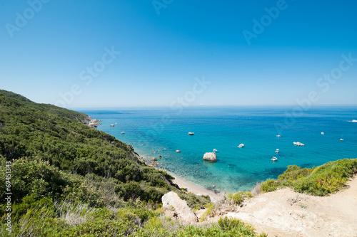 Foto op Aluminium Blauw panorama isola del Giglio