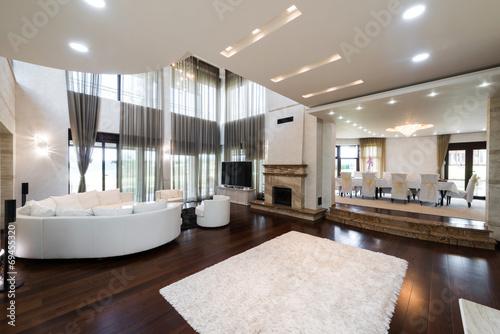 Fotografie, Tablou  comfortable living room interior