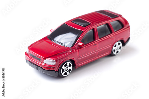 Macro Red Toy Car Top Side View Buy This Stock Photo And Explore
