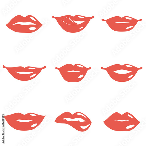 Set of Lips Poster