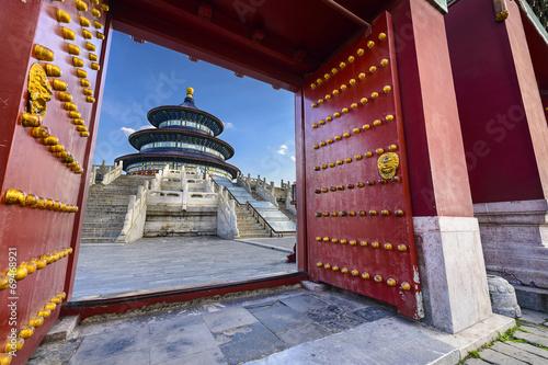 Poster Pekin Temple of Heaven in Beijing, China