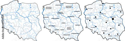 Mapa Polski - fototapety na wymiar