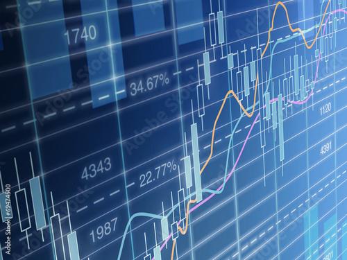Fotografía  Chart stockmarket