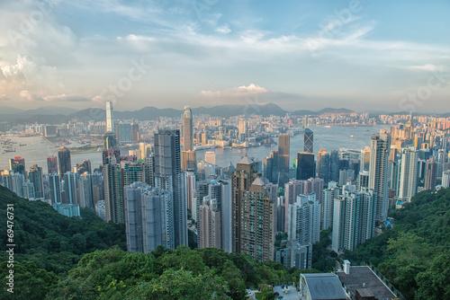 Photo  Hong Kong viewed from Victoria Peak