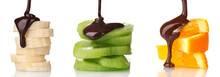 Fruit Slices With Chocolate Is...