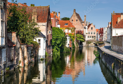 Printed kitchen splashbacks Bridges Bruges canal, Flanders, Belgium