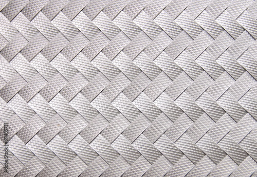 Image of gray ribbon weaved pattern closeup