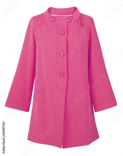 Obraz pink coat isolated on white - fototapety do salonu