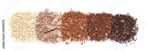 Obraz Crushed eyeshadow isolated on white - fototapety do salonu
