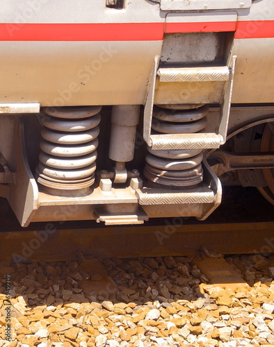 Fotografie, Obraz  Details of shock absorber on a train