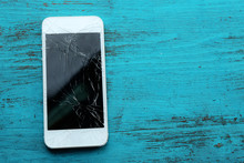 Modern Mobile Phone With Broke...