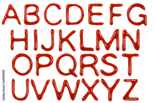 Fotografía  Ketchup-Buchstaben 1