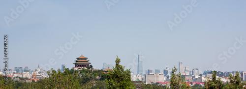 Papiers peints Pékin Beijing Skyline Looking East from Beihai Park