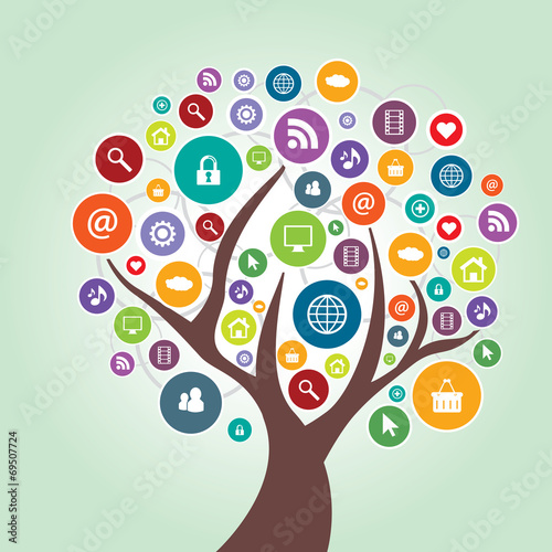 Tree and communication in social media #69507724