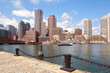 Boston Harbor and Financial District. Boston- Massachusetts, USA