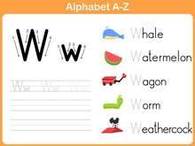 Alphabet Tracing Worksheet: Writng A-Z