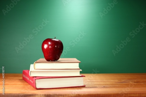 Green Back to School Themed Background Image Poster