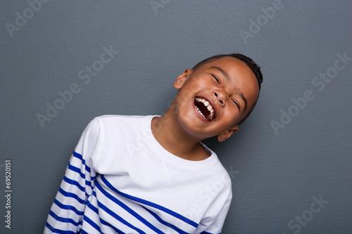 Fotografie, Obraz  Close up portrait of a happy little boy smiling