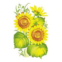 Panel Szklany Słoneczniki sunflowers