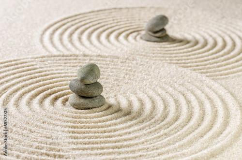 Foto op Canvas Zen Japanischer Zengarten