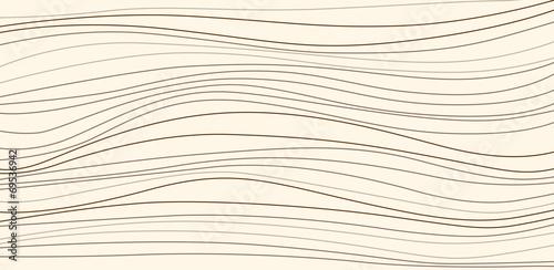 Fotografie, Obraz  Stylish wavy background. Repeating vector texture.