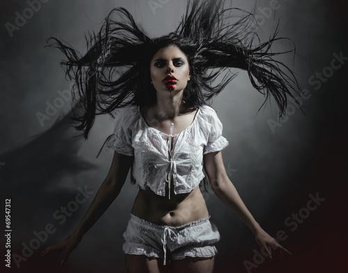 Fotografie, Obraz  Gothic brunette woman