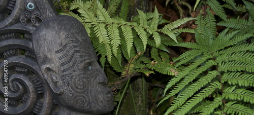 Tuinposter Nieuw Zeeland art Maori - Nouvelle Zélande