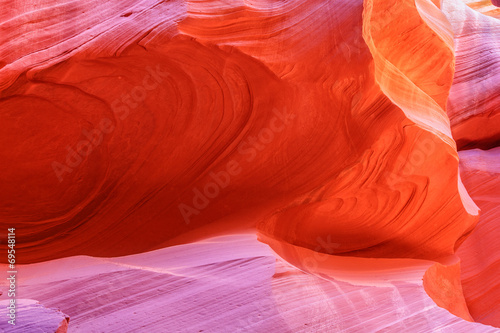 La pose en embrasure Rouge Antelope Canyon Page Arziona