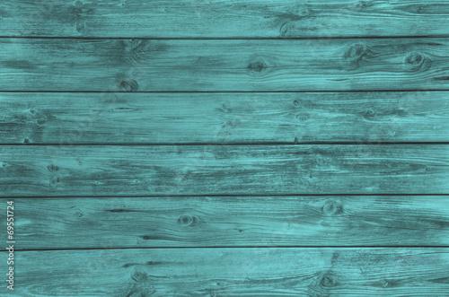 Fototapeta Holz Hintergrund in türkis grün oder petrol obraz