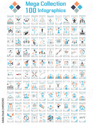 Photo  MEGA COLLECTIONS 100 INFOGRAPHICS CLOUD TIMELINE BUSINNESSMAN