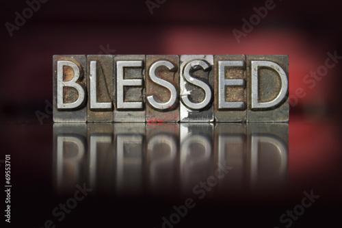 Blessed Letterpress Wallpaper Mural