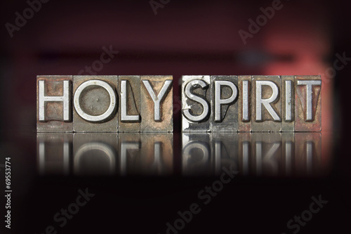 Holy Spirit Letterpress Canvas-taulu