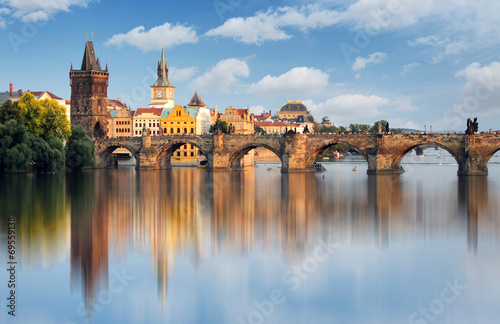 Charles bridge in Prague, Czech republic Canvas Print