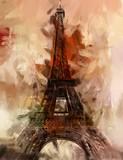 Paris Gemälde Eiffelturm Eifelturm Bild Kunst Ölgemälde - 69563598