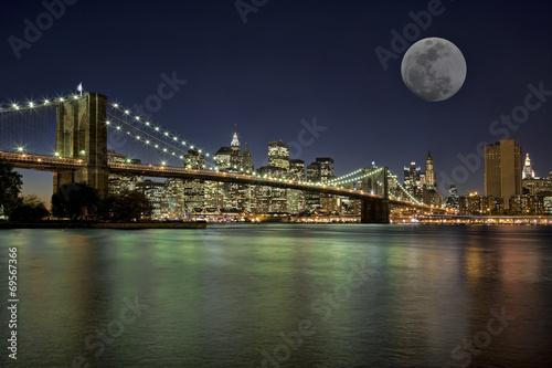 Vászonkép  Moonrise in New York City
